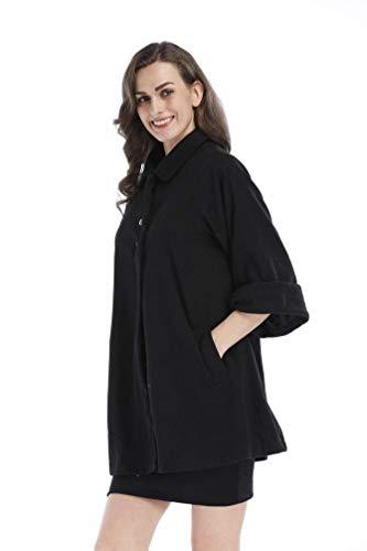Manteaux 4 Outwear De Boutonnage Manches Revers Simple Outerwear Femme Qualit 3 Hiver Unicolore Bouffant Bonne dw7xz7qC8