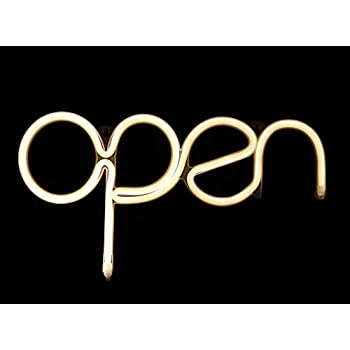 LED Open Sign Light USB Powered Open Neon Sign Warm White 15.5x8.4 inch,Long Cord 11.5 FT Ad Board Open Display Light for ...