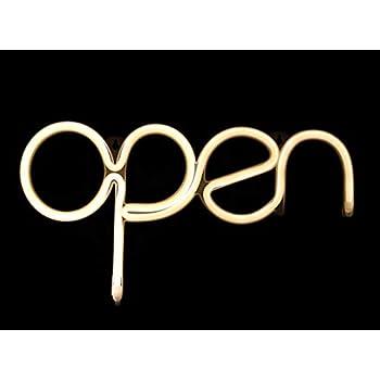 Amazon.com: Letrero de neón abierto LED, para negocios ...