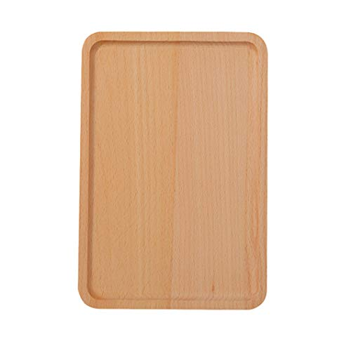 Solid Wood Rectangular Dinner Plate Serving Tray Beech Wood Tableware Food Snack Kitchen Restaurant Home - Cutlery Tray Beechwood