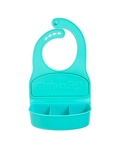 Dare-U-Go!Revolutionary One-Piece Bib & Baby Plate with Compartments Turquoise