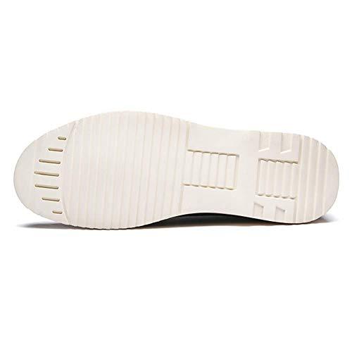 Hombres 6 Hombres tamaño US Zapatos 5 7 UK US UK Hombre Color tamaño Negro 5 cómodos Azul HhGold Zapatos 7 6 de Marrón 5 para Color de 5 Cuero Casuales para UxqPX