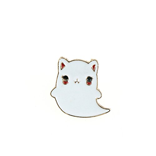 (1pc Animal Enamel cartoon Cat Ghost pins brooches badges pins Jewelry Accesso Lh)