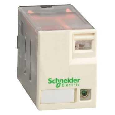 Telemecanique Sensors RXM4AB3BD Relé de Miniatura enchufable con LED, Zelio RXM, 4 C/O, 24 V DC, 6A