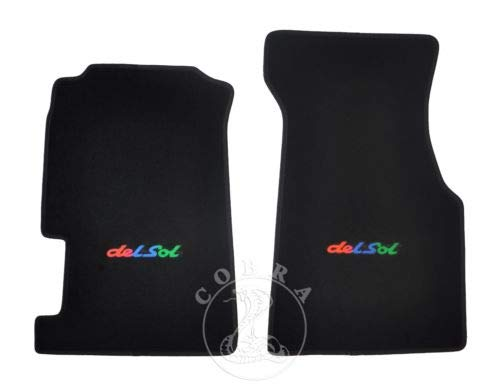 - Cobra Auto Accessories Floor Mats Carpet + Rainbow Logo Fits Honda CRX DEL SOL 92 93 94 95 96 97 98
