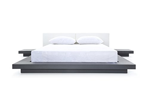 Limari Home LIM-73483 Caddy Eastern King Bed, Wenge/White