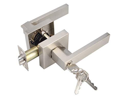 Keyed Entry Lever Lock for Exterior Door and Front Door