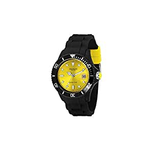Madison New York Ladies Candy Time Yellow Dial Rubber Band Watch [U4486-02]