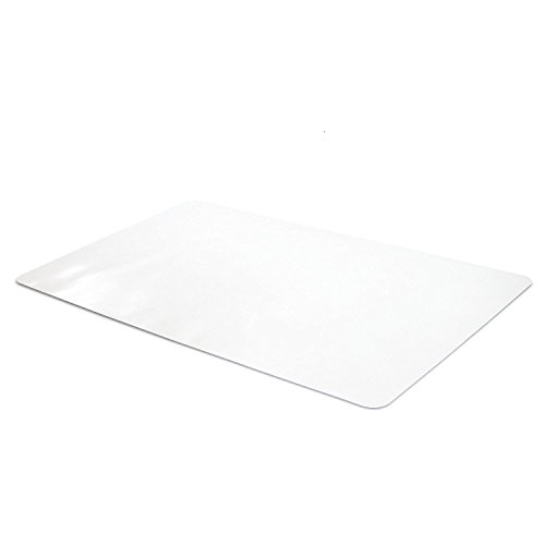 Office Desk Mat Clear Textured - 28 x 18 inch Plastic Computer Mat for (Clear Writing)