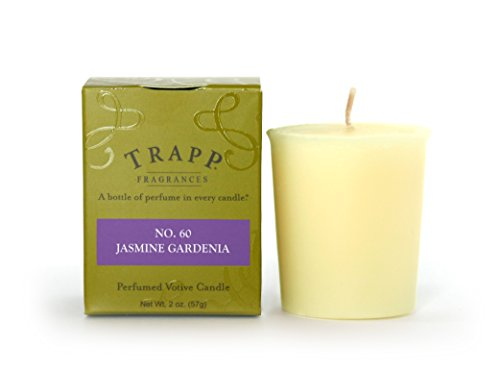 Jasmine Votive Candle - Trapp Signature Home Collection No. 60 Jasmine Gardenia Votive Scented Candle, Pack of 4