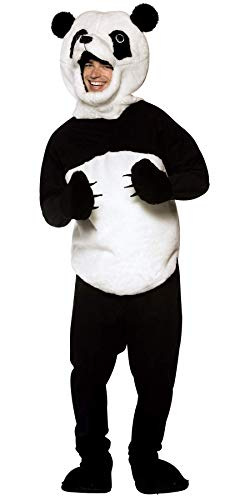 (Rasta Imposta Panda Costume, Black/White, One Size)