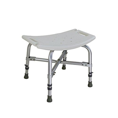 2019年最新入荷 シャワースツール\シャワーチェア バスルームスツールアルミシャワーチェア障害援助ノンスリップバスチェア、高齢者、身体障害者、妊婦、高さ調節可能 バスシートベンチ\バススツール   B07DY5732Q, ウォーキンビレッジ:25e76e26 --- magixcomp.com.br