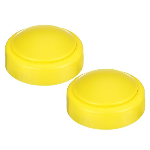 uxcell Tap Lights AAA Powered Touch Sensor LED Lamp Push Night Light Wireless Stick-on 3.9inch Yellow Colored 2 Packs for Closet Cabinet Bedroom Storage Shed Hallway Stair