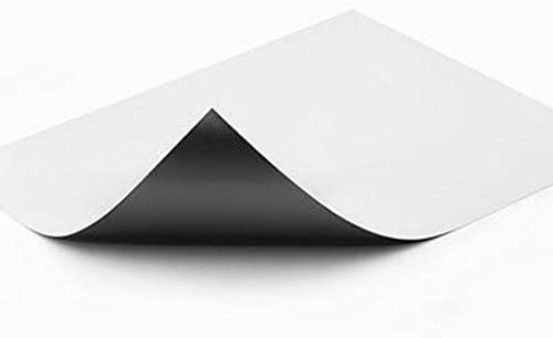 Lámina magnética blanco mate, en formato DIN A4-210 x 297 x 0,8mm - crear imanes personalizados, adhiere a todas superficies metálicas: Amazon.es: Hogar