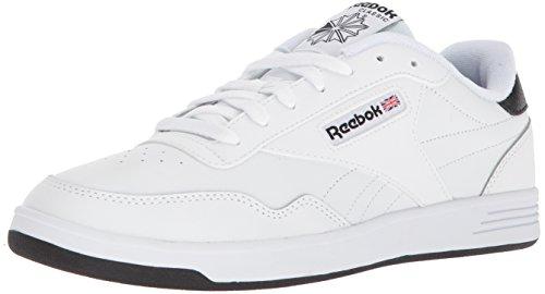 Reebok Men's Club MEMT Sneaker, White/White/Black, 11 M US (Leather Shoes Mens Classic Walking)