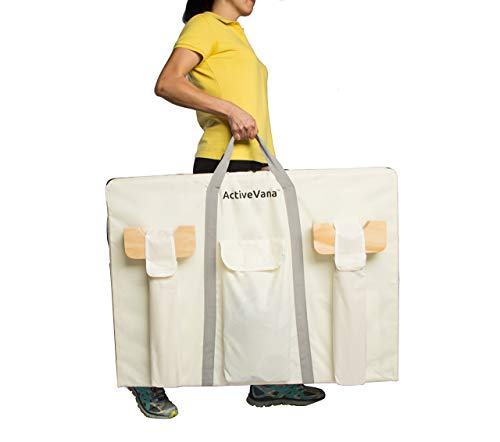 ActiveVana Giant Wooden 4 in A Row with Carrying Case 4 Connect