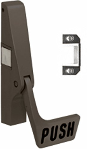 C.R. LAURENCE 311095PLC313 CRL Dark Bronze Jackson 10 Series Left Hand Reverse Bevel Paddle Rim Panic Exit Device (Paddle Rim)