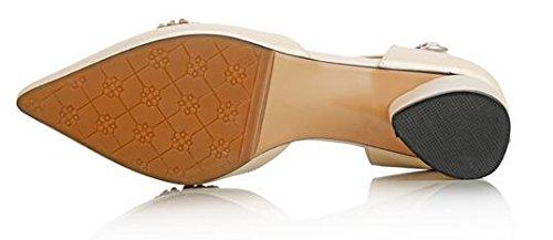 Laruise Leather Women's Genuine Crystal Sandal Nude xOSYOrq6