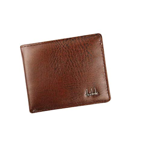 - Rambling New RFID Blocking Bifold Mens Business Leather Wallet With ID Window, High-End Build (Brown)
