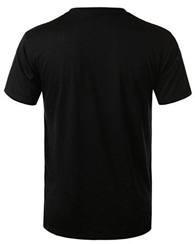 URBANCREWS Mens Hipster Hip Hop Sublimated Graphic Print T-shirt- Various Prints (L, 23 Floral Pinstripe)