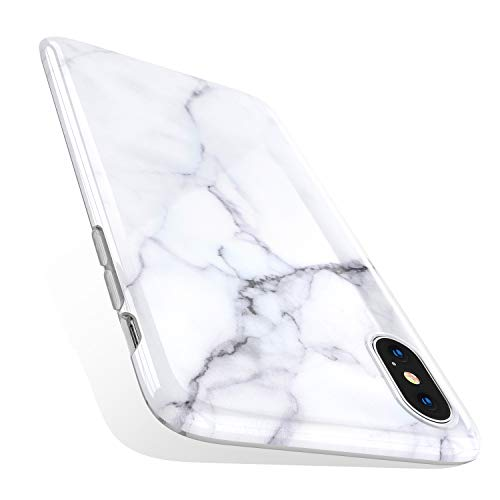 (TORRAS Marble iPhone Xs Case/iPhone X Case, Ultra Thin Slim Case Soft Marble White TPU Phone Case for iPhone X/iPhone Xs)
