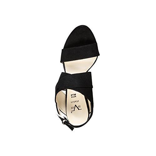 V 1969 - IRMINE_NERO Sandalias De Vestir Para Mujer Tacón 11.5 cm, Meseta 1 cm