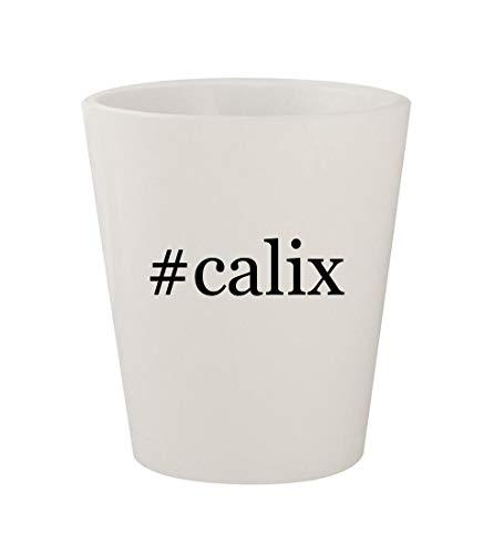 #calix - Ceramic White Hashtag 1.5oz Shot Glass