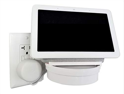 The Google Home Hub Nest Hub Mount for Kitchen and Bathroom Outlets. Full Swivel. Installs in Seconds. Hidden Cord…
