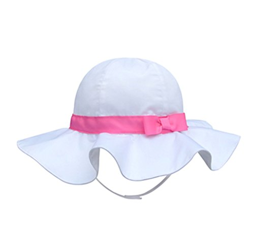 SNW Kid Baby Summer Hat Baby Sun Hat Hip Hop Hat Baseball Cap Baby Cap (21.3-21.7 in/8-10 years, White-pink)]()