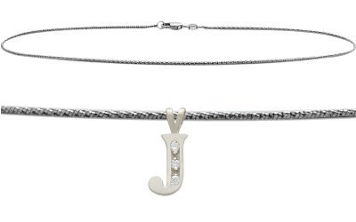Diamond Initials Bracelet (Initial Diamond J White Gold 9
