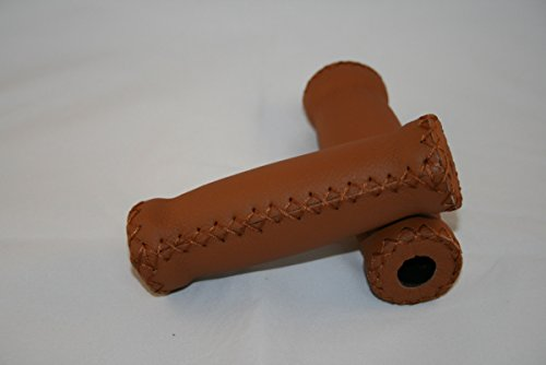 Fahrrad-Griffe für Lenker in 100% Genuine Leder. Vero Cuoio. Made in Italy. Fabre honig