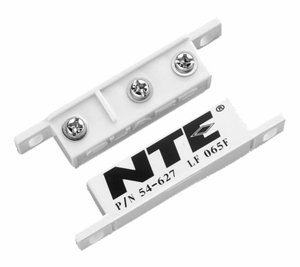 (NTE Electronics 54-627 Magnetic Alarm Reed Switch, SPDT Circuit, NO or NC Action, Magnet Actuator, Screw Terminals, 125V)
