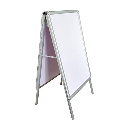 Double-Side Snap Open Aluminum A-Frame Sidewalk Sign fits 24