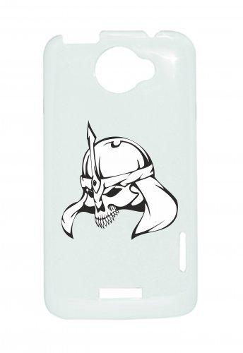 """Smartphone Case Apple IPhone 7+ Plus """"Totenkopf mit ritterlicher Rüstung Helm Skelett Rocker Motorradclub Gothic Biker Skull Emo Old School"""" Spass- Kult- Motiv Geschenkidee Ostern Weihnachten"""