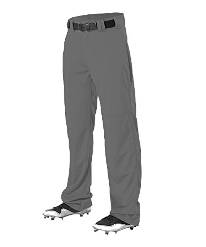 Alleson Athletic Adult Adjustable Inseam Baseball Pant Charcoal Small ()