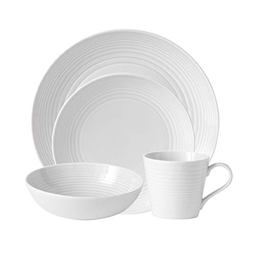 Royal Doulton 8574024522 Gordon Ramsay Maze White 4-Piece Set 2 Dinnerware Place Settings
