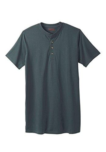Big & Tall Heavyweight Longer-Length Short-Sleeve Henley (Big And Tall Henley Shirts)