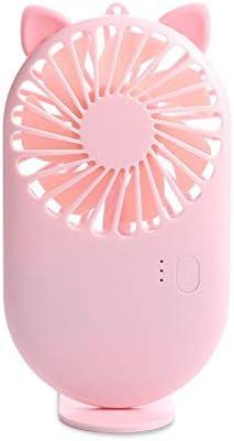 Piccolo fan Nuovi Ventagli Tascabili Modello Usb Charge Mini-hold Fans Studente All\'aperto Piccolo Ventilatore Portatile Mini Dispositivo Di Raffreddamento Dell\'aria Rosa