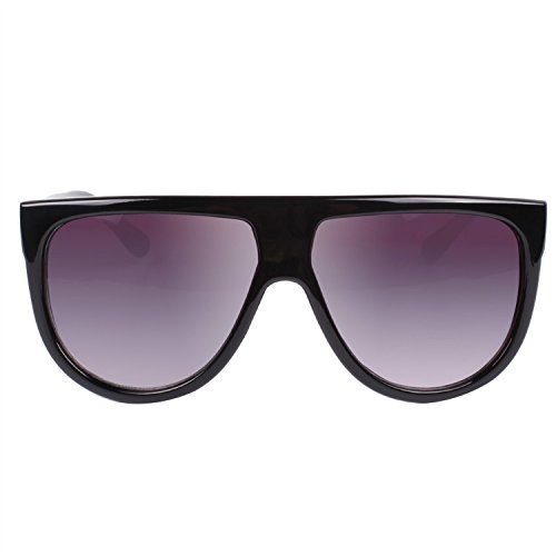 VIVIENFANG Flat Top Aviator Polarized Sunglasses Ombre Lens Boyfriend Shades P1835