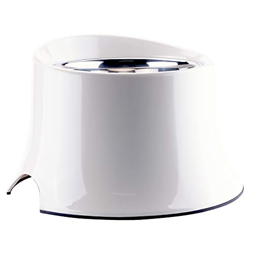- Super Design Elevated Dog Bowl Raised Dog Feeder for Food and Water 2.5 Cup Cream White