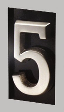 GAINES MANUFACTURING INC SN-5 HOUSE NUMBER NUMBER#5 - Satin nickel ()