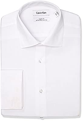 Calvin Klein Men's Regular Fit Non Iron Solid Shirt