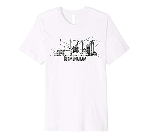 Birmingham city skyline Cool Tee Alabama souvenir Premium -