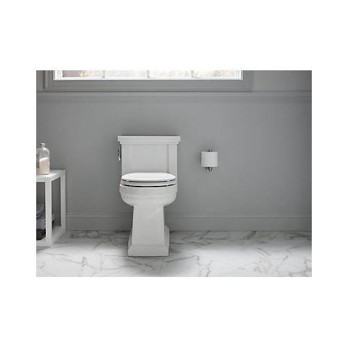 KOHLER K-3981-96 Tresham Comfort Height Skirted One-Piece Compact Elongated Toilet with Aquapiston Flush Technology and Left-Hand Trip Lever, Biscuit by Kohler (Image #7)