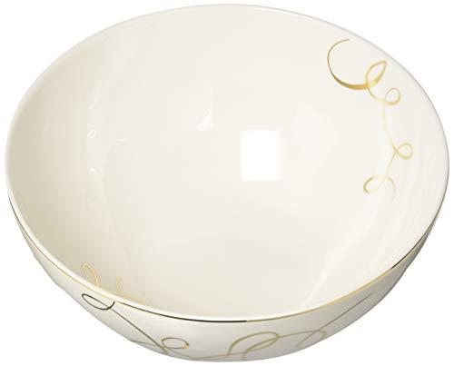 - Mikasa Love Story Gold Vegetable Bowl - White|Gold