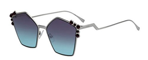 New Fendi Ff 0261/S 06LB/JF Ruthenium/Blue Aqua Sunglasses