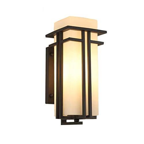 LED Ip54 Waterproof Wall light Outdoor, Modern Glass shade Wall lighting lamp 3000k Warm light Wall mount Sconce For Courtyard Lawn Parking plant-31x18x15cm