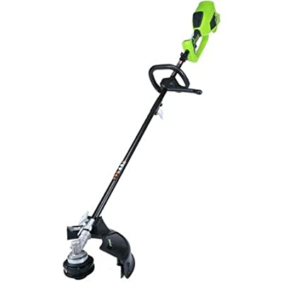 """GreenWorks 2100202 40V Brushless 14"""" String Trimmer, Battery and Charger Sold Separately, Attachment Capable"""