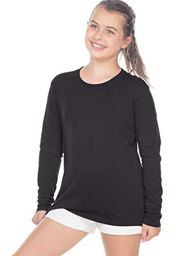 Kavio! Youth Crew Neck Long Sleeve Top Black L