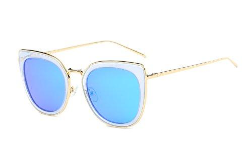 Bevi Polarized Polycarbonate Metal Sunglasses - Metal Polycarbonate